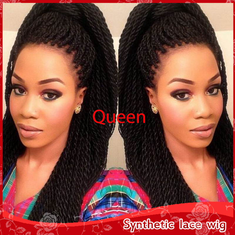 2016 New Style Hot Twist Havana Braided Hair Glueless Synthetic Lace Front Wigs Micro Braids Wig For African And American Woman On Aliexpress