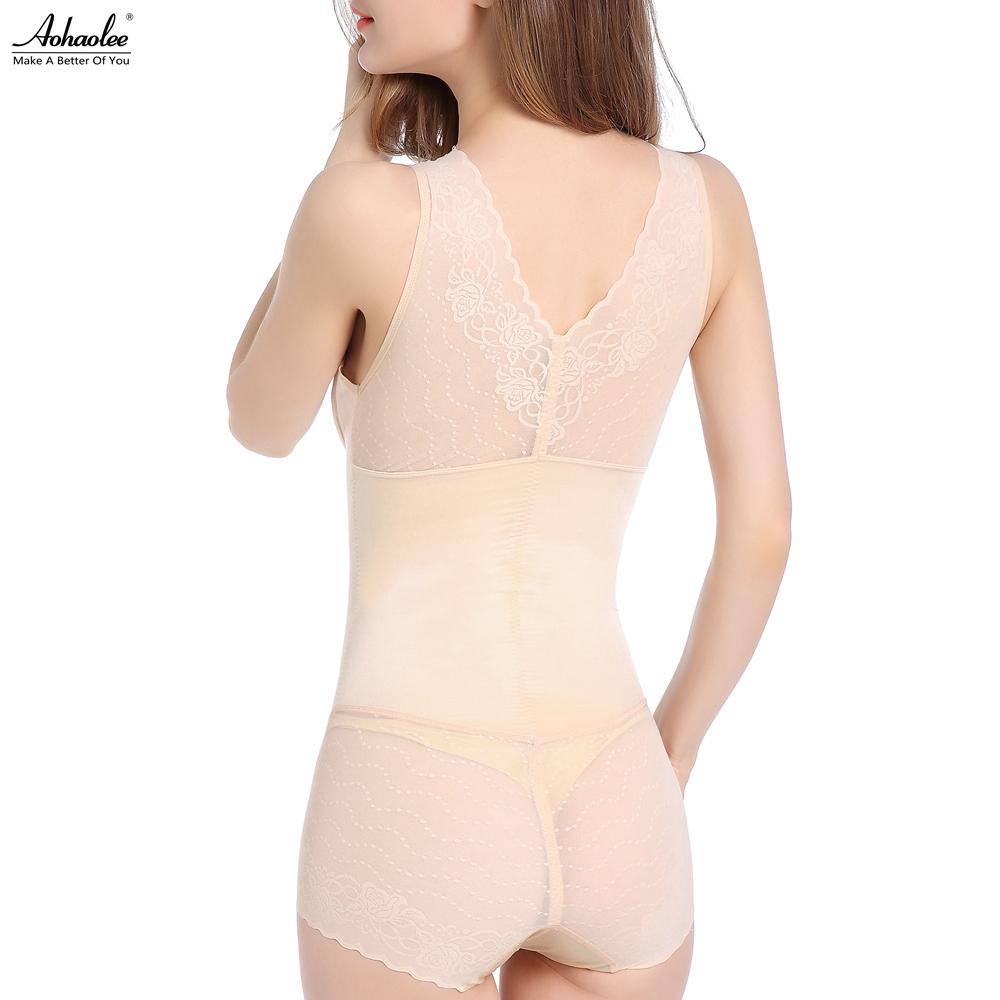 fc2624c1e8e67 Aohaolee Women Seamless Slimming Shapewear Lace Underwear Firm Tummy  Control Bodysuits Slip Body Shapers Bra Briefer Butt Lifter-in Bodysuits  from Underwear ...