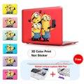 Миньон Сделать Фото Вставить Темно-Красный Печати Ноутбук Чехол Для Apple Mac Macbook Pro 15 Чехол/Macbook Pro 13 15 Retina