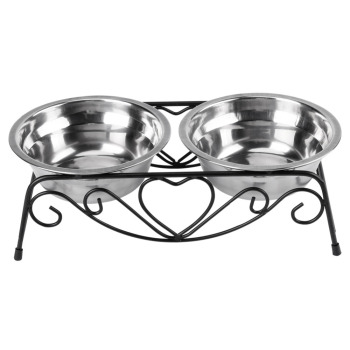 Stainless Steel Double Dog Bowl  2