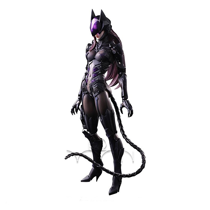 Final Fantasy Dc Comics Play Arts Kai Catwoman Action Figure Tetsuya Nomura NO50
