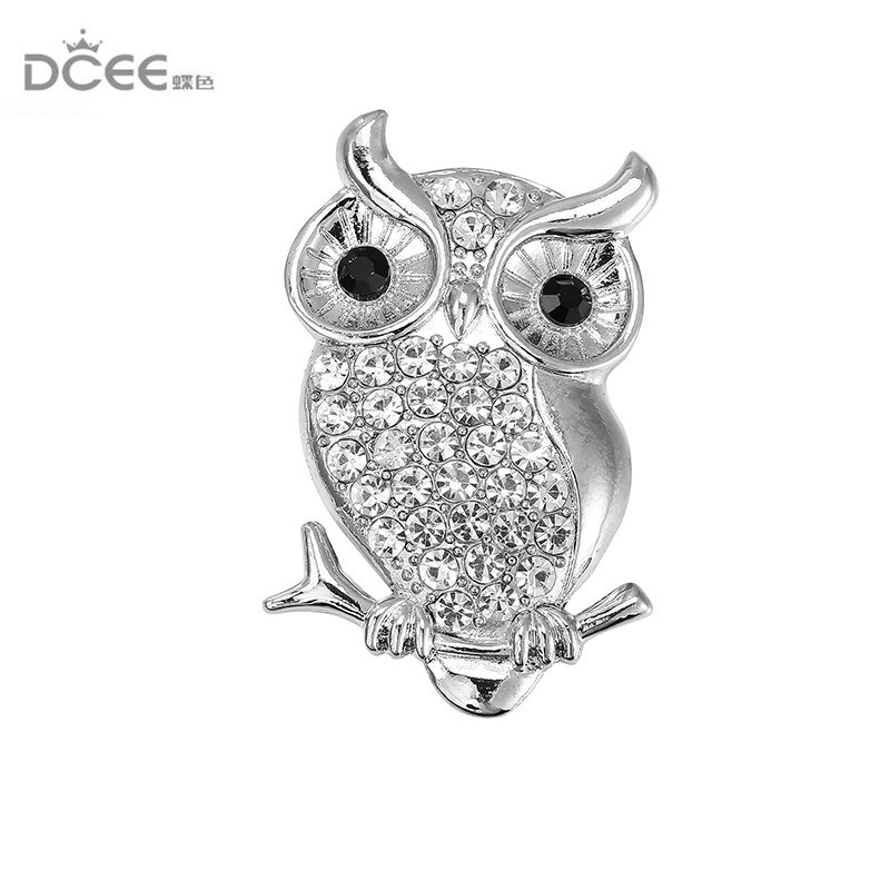c5c84ee837a DCEE White Stone Owl Brooches And Pins For Women Personalized Design ...
