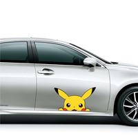Hot Sale Universal Car Bus Body Sticker Design Cute Pikachu Graphic Vinyl Decal Car Body Local