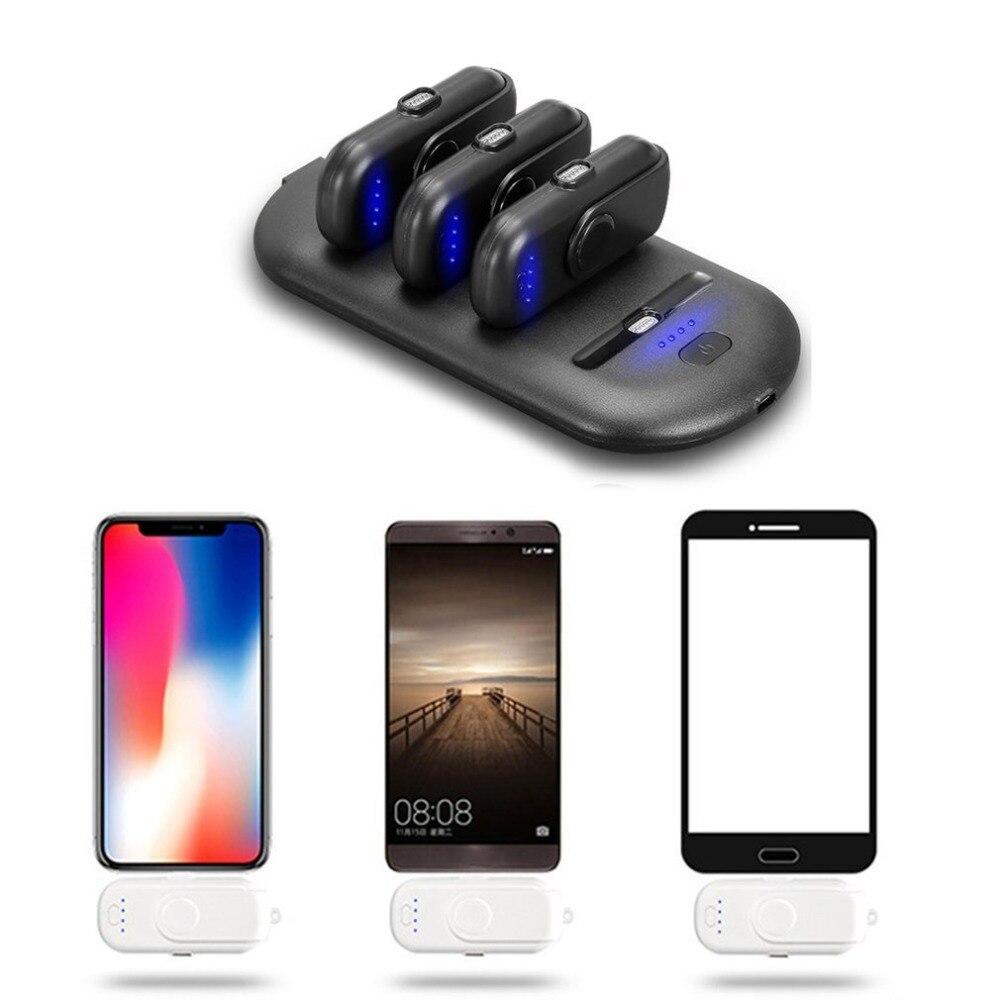 Batterie externe de doigt magnétique de paquet de charge de 9000 mAh et chargeur portatif de Base de charge pour l'iphone pour Android pour des téléphones de type-c