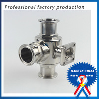 free shipping 1 inch Quick connect Quick opening Three way Ball Valve with Bracket
