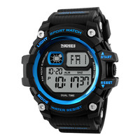 Men Digital Watch Big Dial Multifunction Chronograph Outdoor Sports Watches 50M Water Resistant Shock Wristwatches 1229 BAMOER