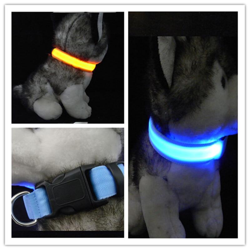 D07 Heyvan Köpək LED Yaxası Pet neylon yaxası parlaq yaxa LED - Ev heyvanları və zoo məhsullar - Fotoqrafiya 1