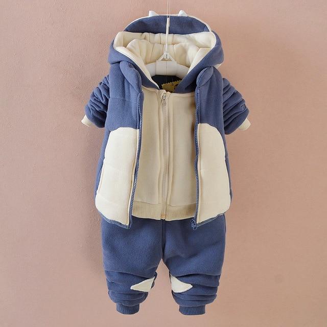 2167fe538 new release 24c3c 2c793 2018 velvet warm baby clothes set baby boy ...