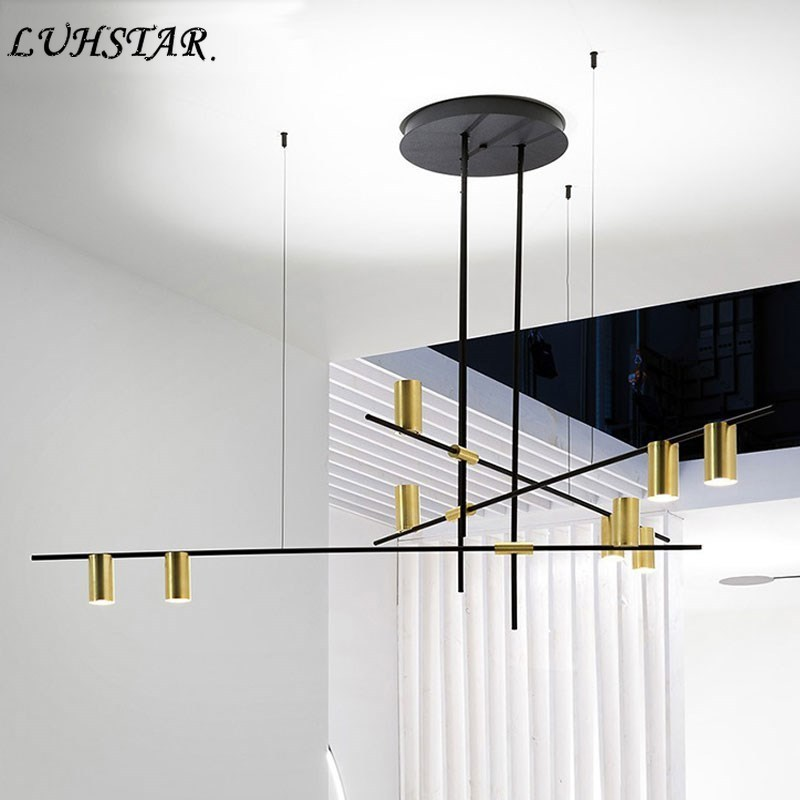 Nordic Modern Iron LED Chandelier Lighting Modern Simple Home Decor Lustre Living Room Dinning Room Kitchen Chandeliers Ceiling