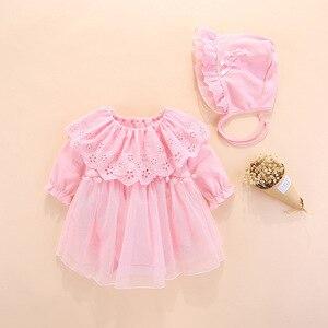 Image 2 - 2019 Одежда для новорожденных девочек, платья, весеннее платье для крещения на возраст 0 3 месяца, детские платья, комплекты платьев для крещения на возраст 6