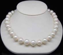 choker Miss charm Jew.205 Noblest 11-12mm AAAA white pearl necklaces 17″ 100% gem stone anime