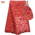 Mr. Z Tecidos Rendas Nigeriano Hgh Qualidade Guipure Tecido de Renda Francesa Com Pedras Tecido de Renda Africano Bordado Tulle Lace N1043
