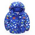 Мода новый мальчик куртка пальто зимнее хлопок динозавра толстые куртки экипировка детская одежда дети мальчик вниз и парки