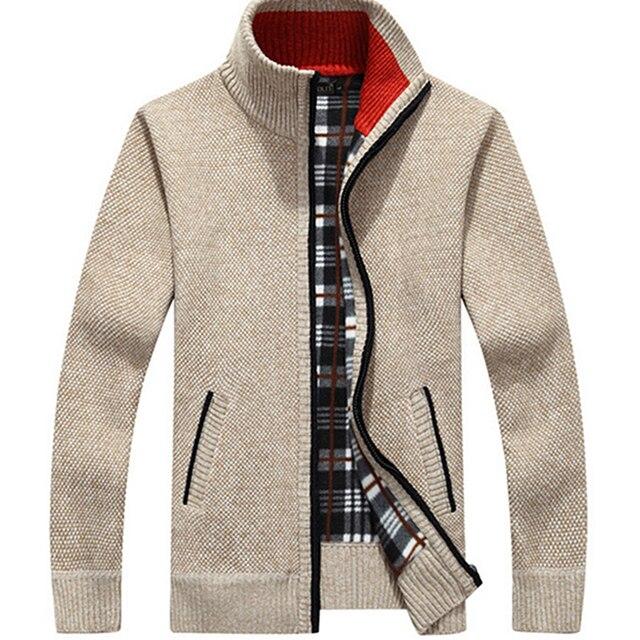Cardigan men jacket cashmere+wool sweater Men