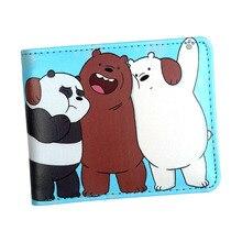 Новое поступление, кошелек с рисунком аниме, сумочка с изображениями медведей, кошелек гризли для девочек