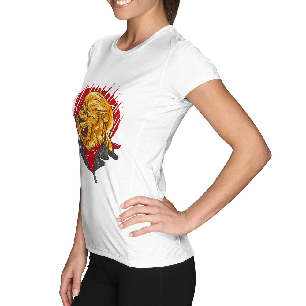 Handsome Winking Lion T-shirt Animal Moto Boy Novelty Funny Skate T Shirt Punk Fashion Cool Women Men Top