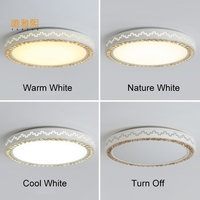 Crystal Ceiling Lamp Round Surface Mounted Modern Led Ceiling Lights Light Fixture Indoor Lighting