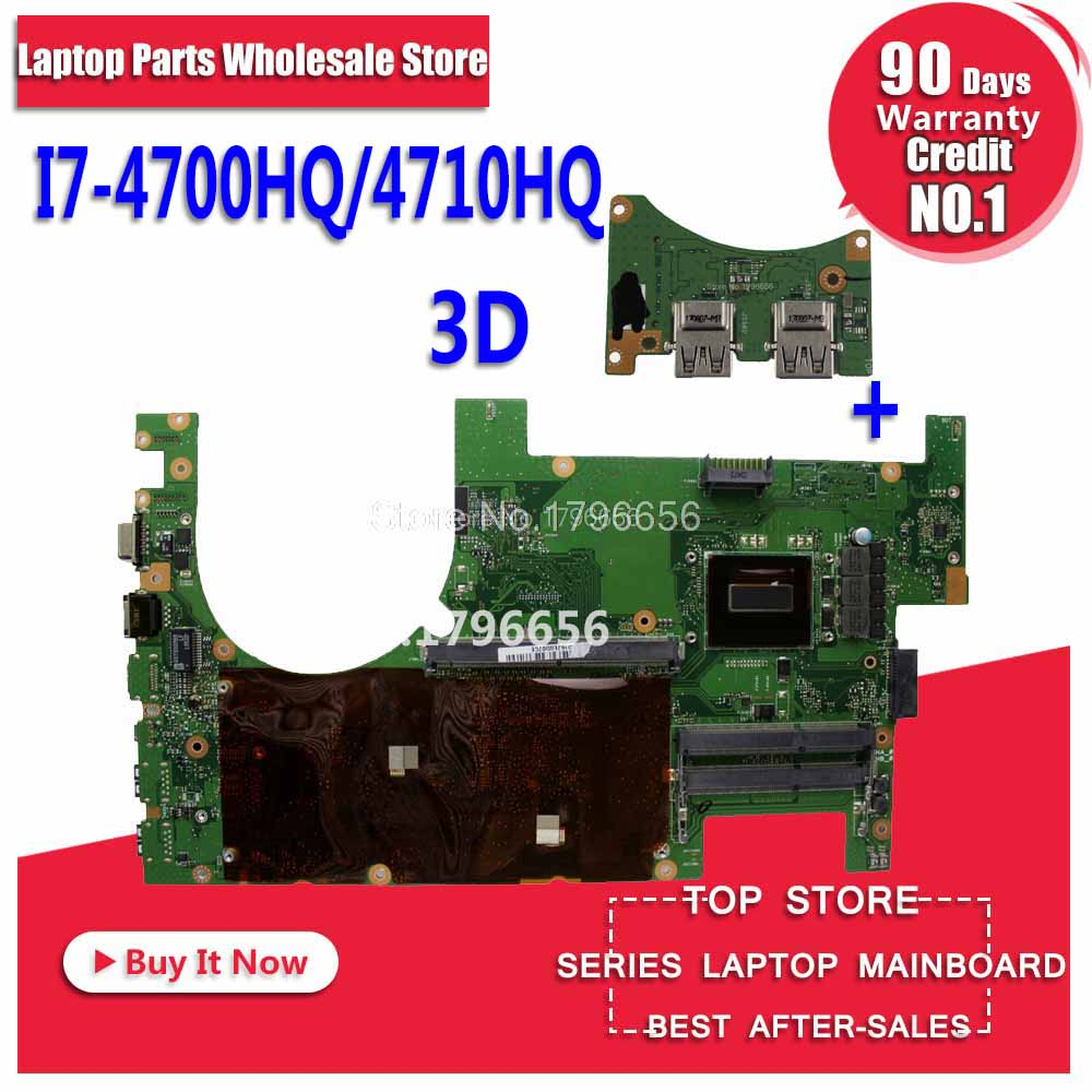 NEW! Send board +3D G750JH G750JW motherboard for asus G750J G750JM G750JX G750JS Laptop motherboard full test ok Mainboard цена