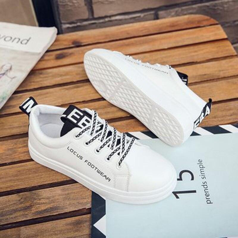 2018 mujeres vulcanize zapatos plataforma zapatos de lona - Zapatos de mujer - foto 4