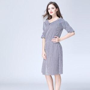 Image 3 - רגש אמהות פסים יולדות בגדי סיעוד הנקת הריון שמלות לנשים בהריון יולדות שמלת S M L XL
