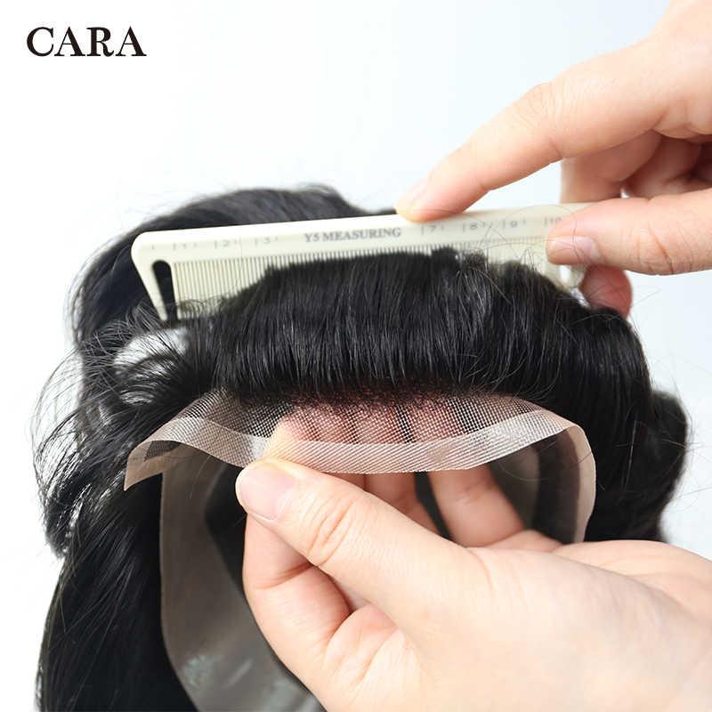 8x6 hombres tupé de encaje suizo frente Mono Centro Poly Perimeter cabello sistema de reemplazo peluquín hombres brasileño Remy cabello humano