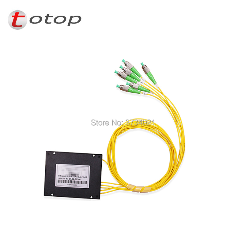 FREE SHIPPING ABS FC APC 1X5 BOX Fiber Optic Splitter FC APC Connector For Best Price