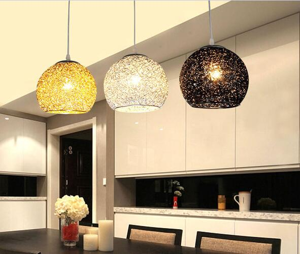 Simple modern aluminum ball pendant lights living room dining room bedroom hotel pendant lamp Silver blue red single FG291 modern guard dining room pendant lights white black golden silver lamp