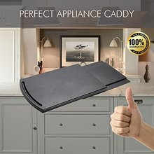 Kitchen Caddy Sliding Coffee Tray Mat Under Cabinet Appliance Coffee Maker Toaster Countertop Storage Moving Slider Dropshipping(China)