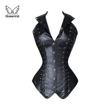 waist trainer corsets  Leather steampunk corselet gothic clothing waist trainer lingerie slimming party corsets and bustiers