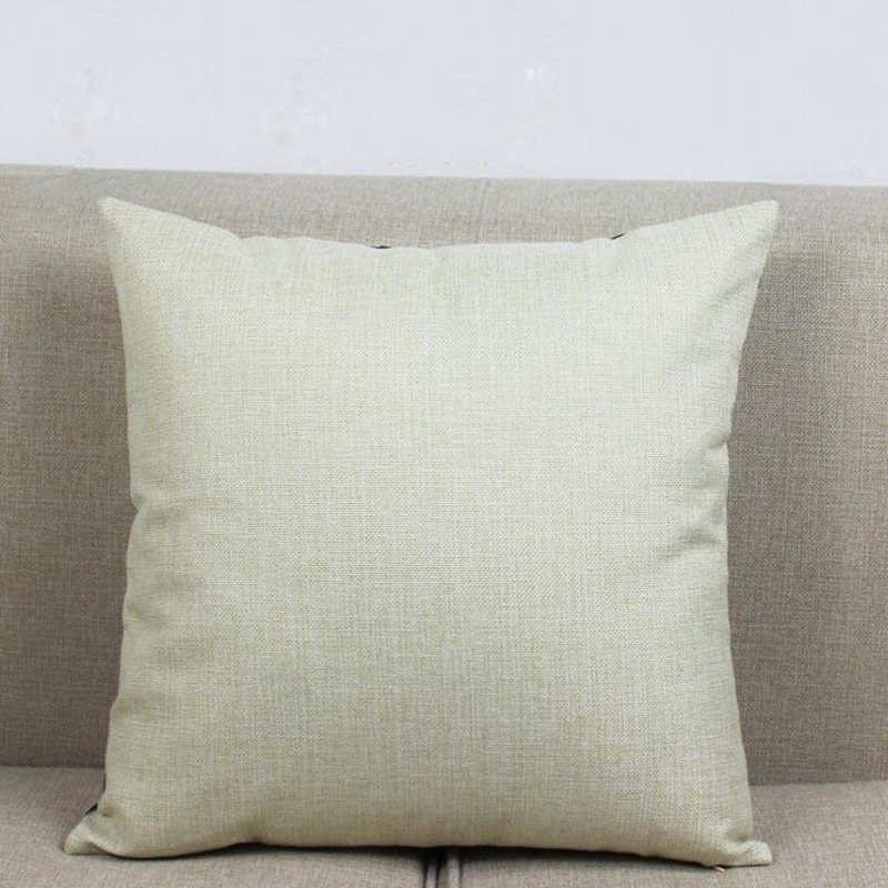Small Size Cotton Linen Solid Natural Linen Color Sofa Cushion Cover Beige Home Decorative Chair Car Throw Pillow 35x35 40x40cm