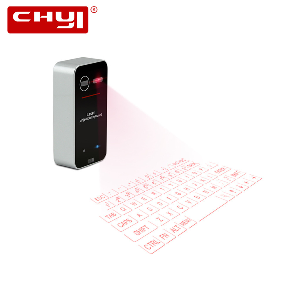 Portable Bluetooth Laser keyboard Wireless Virtual Projection keyboard for Iphone Android Smart Phone Ipad Tablet PC Notebook chuyi virtual laser projection mini keyboard bluetooth wireless keyboard for iphone macbook air pc tablets notebook computer