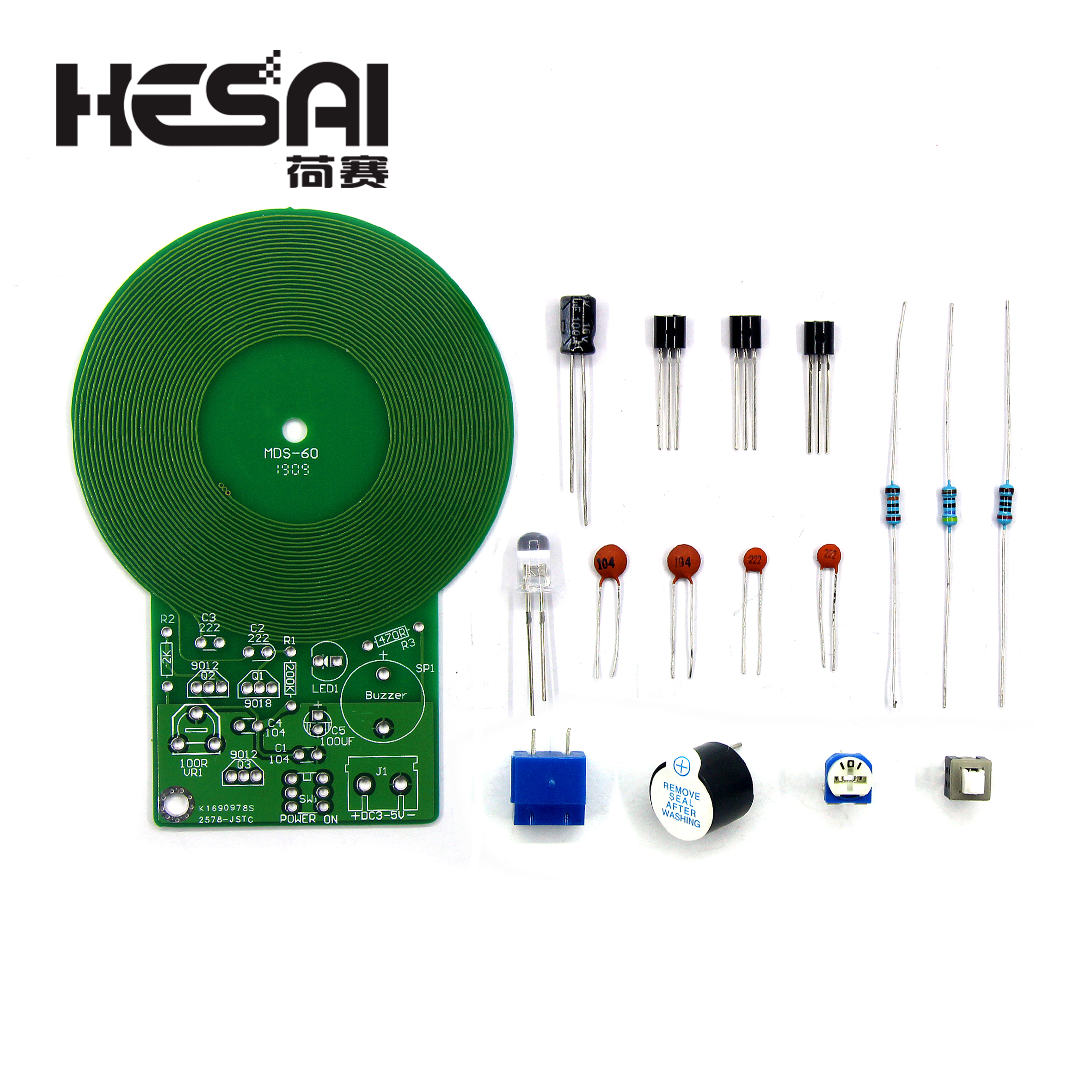 Metal Detector Kit Electronic Kit DC 3V-5V Non-contact Sensor DIY Kit