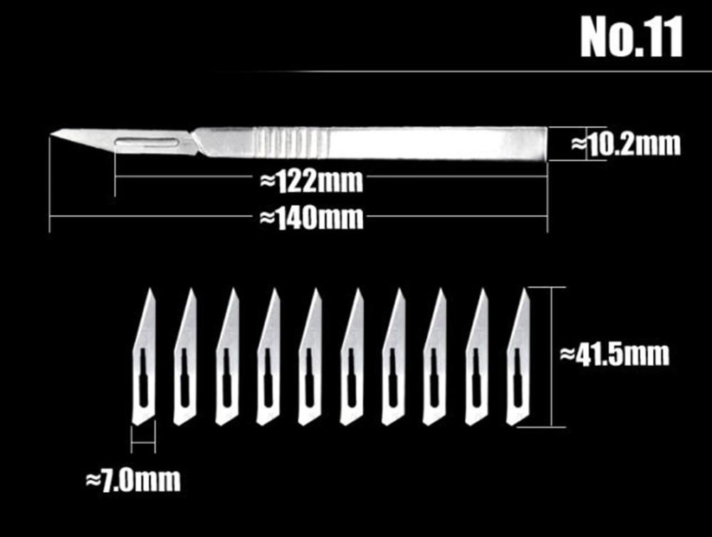 2st Scalpel mes met 20st beeldhouwen messen professionele Animal - Handgereedschap - Foto 2