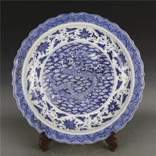 Ancient Antiques Chinese Blue and White Porcelain Blue Dragon plate & Buy antique chinese plates and get free shipping on AliExpress.com
