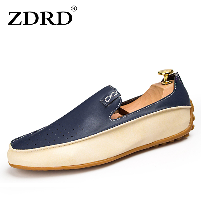 ZDRD PU leather men shoes casual driving flats shoe leather mocassin soft breathable men flat brand loafers shoes big size 38-47 brand best quality genuine leather men flats casual shoes soft loafers comfortable driving shoes men breathable shoes