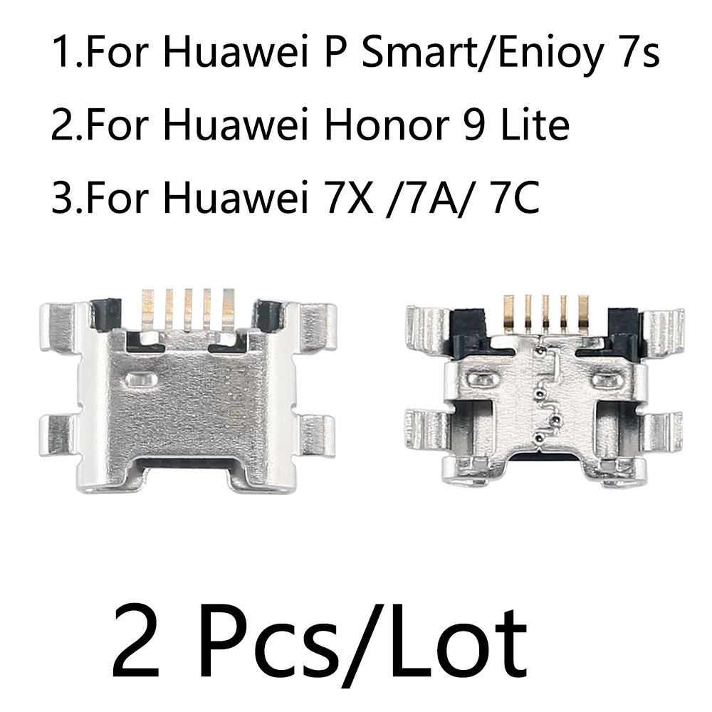 For Huawei P Smart Honor 9 Lite 7X 7A 7C Micro USB Charging Port Charger For Huawei Enjoy 7S Dock Socket Jack Connector Port
