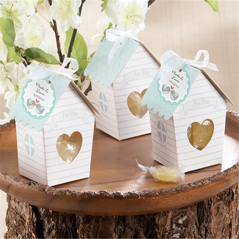 Cute Wedding Gift Ideas: 10pcs Cute Small House Wedding Favor Boxes Wedding Candy