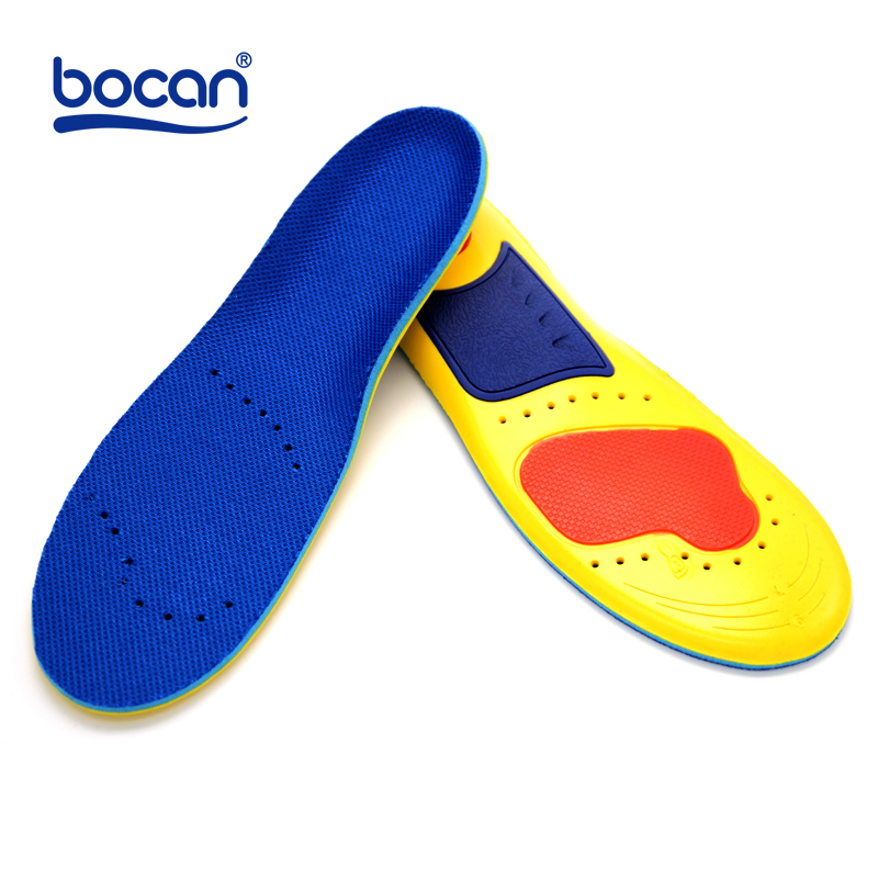 Memory foam insoles shock absorption orthopedic pad for running sporting foot pain relieve insoles for men