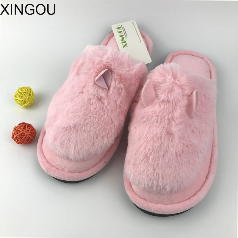 New home slippers plush indoor warm winter babouche couples slipper home floor cotton shoes postpartum women's slippers 3d minions slippers woman winter warm slippers despicable minion stewart figure shoes plush toy home slipper one size doll