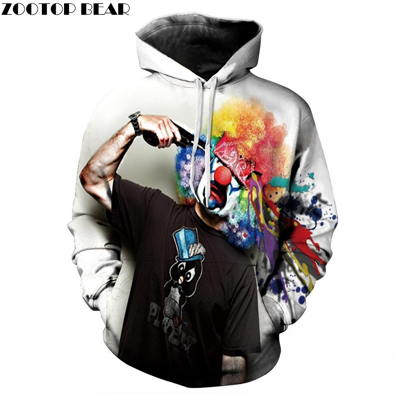 Joker Pritned 3D Hoodies Men Women Sweatshirts Funny Pullovers 6XL Plus Casual Tracksuits Quality Brand Male Hoodie ZOOTOP BEAR