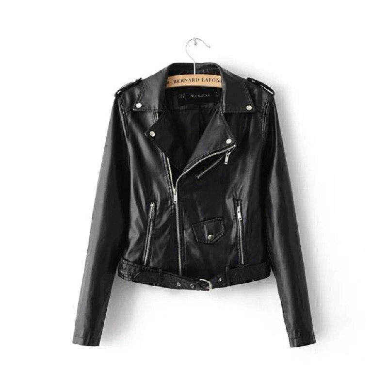 women 39 s new spring fashion bright colors basic street short pu leather jacket. Black Bedroom Furniture Sets. Home Design Ideas