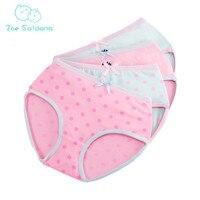 Zoe Saldana Girl's Underwear 2017 New 8Pcs/Lot Kids Cartoon Pattern Printed Panties 100% Cotton Briefs Soft Baby Girl Underpants