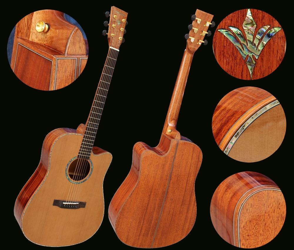 full solid wood perform ELECTRO acoustic guitar все цены