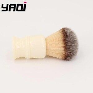 Image 3 - Yaqi 22 MILLIMETRI Capelli Sintetici Manico In Resina Bianco Latteo Pennelli Da Barba degli uomini