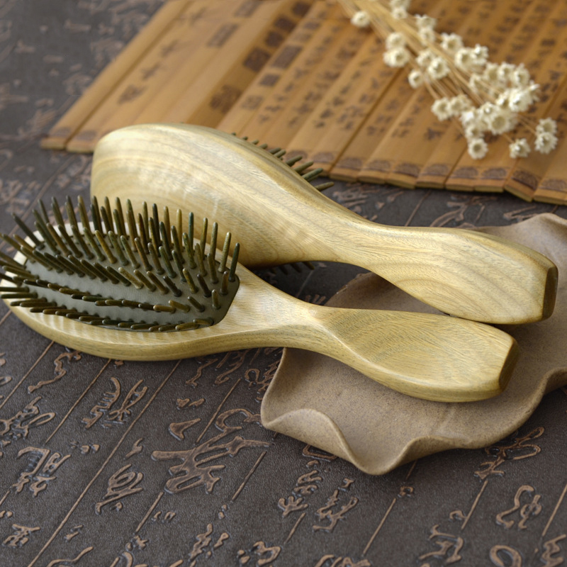 Green Sandalwood Air Bag Hair Combs Natural Anti static Head Massager Tool Airbag Relaxation Brushes Health Massage Comb green sandalwood air bag hair combs natural anti static head massager tool airbag relaxation brushes health massage comb