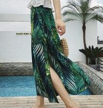 High Split Chiffon Wide Leg Pants Women Loose Summer Casual Chic Streetwear Thin Trousers For Women High Waist Pants