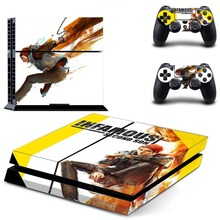 Vinyl Sticker PS4 Skin Decal Sticker For PlayStation4 Console and 2 controller skins – Infamous