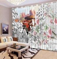 Фото Настроить размер кирпич мультфильм шторы современной гостиной шторы декор украшение для спальни