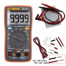 True RMS 9999 Counts Handheld Digital Multimeter Square Wave Backlight LCD Display AC/DC Ammeter Voltmeter Ohm Electrical Tester