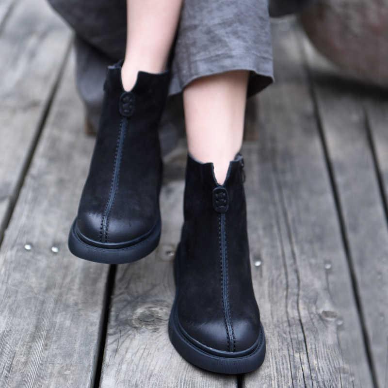 Artmu оригинальные ботильоны 2019 г., новые мягкие женские ботинки удобные ботинки ручной работы из натуральной кожи на плоской подошве 6653